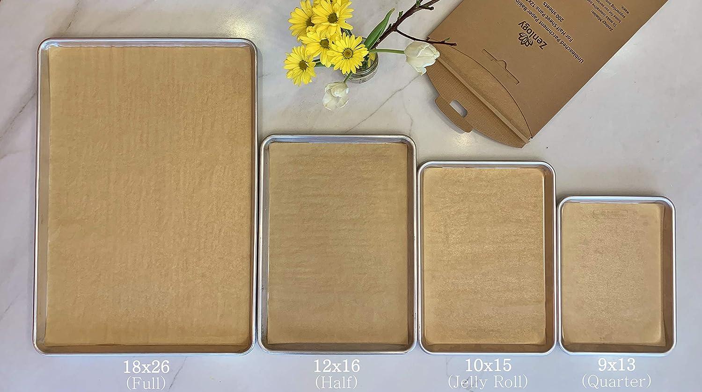 Easy Storage Box Exact Fit For Quarter Sheet Pans Zenlogy 9x13 Unbleached Parchment Paper Baking Sheets