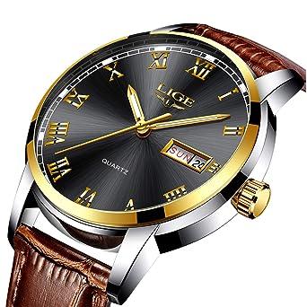 955937aab2d Mens Black Watches Waterproof 30M Date Calendar Wrist Watch for Men  Teenager Boys