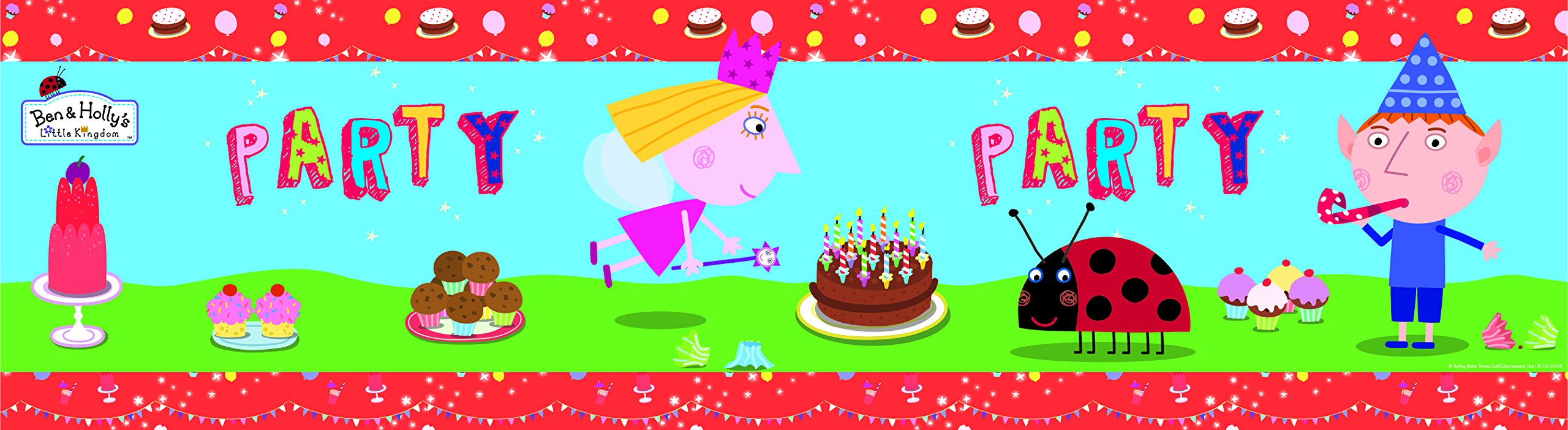 Amazon Com Ben Holly Ben And Holly Party Foil Banner And Balloons