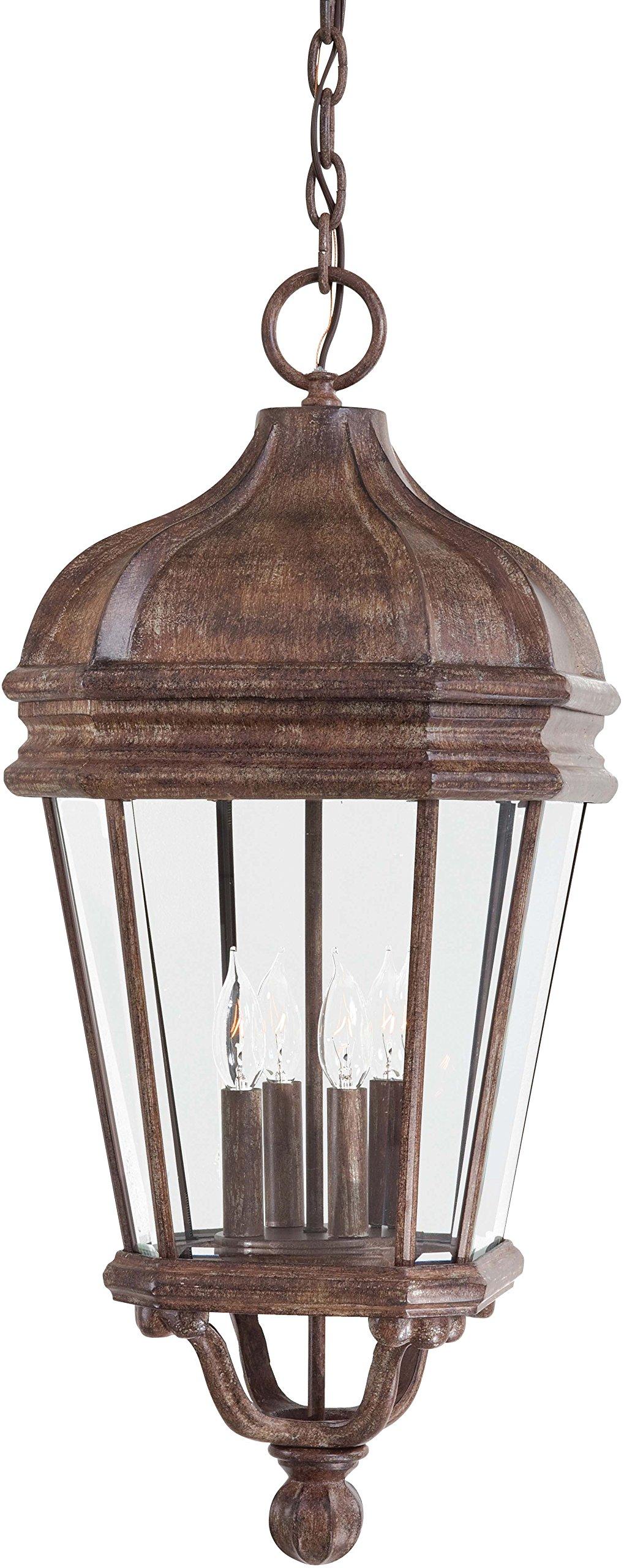 Minka Lavery Outdoor Pendant Lighting 8694-61, Harrison Cast Aluminum Ceiling Lighting for Patio, 160 Watts, Rust