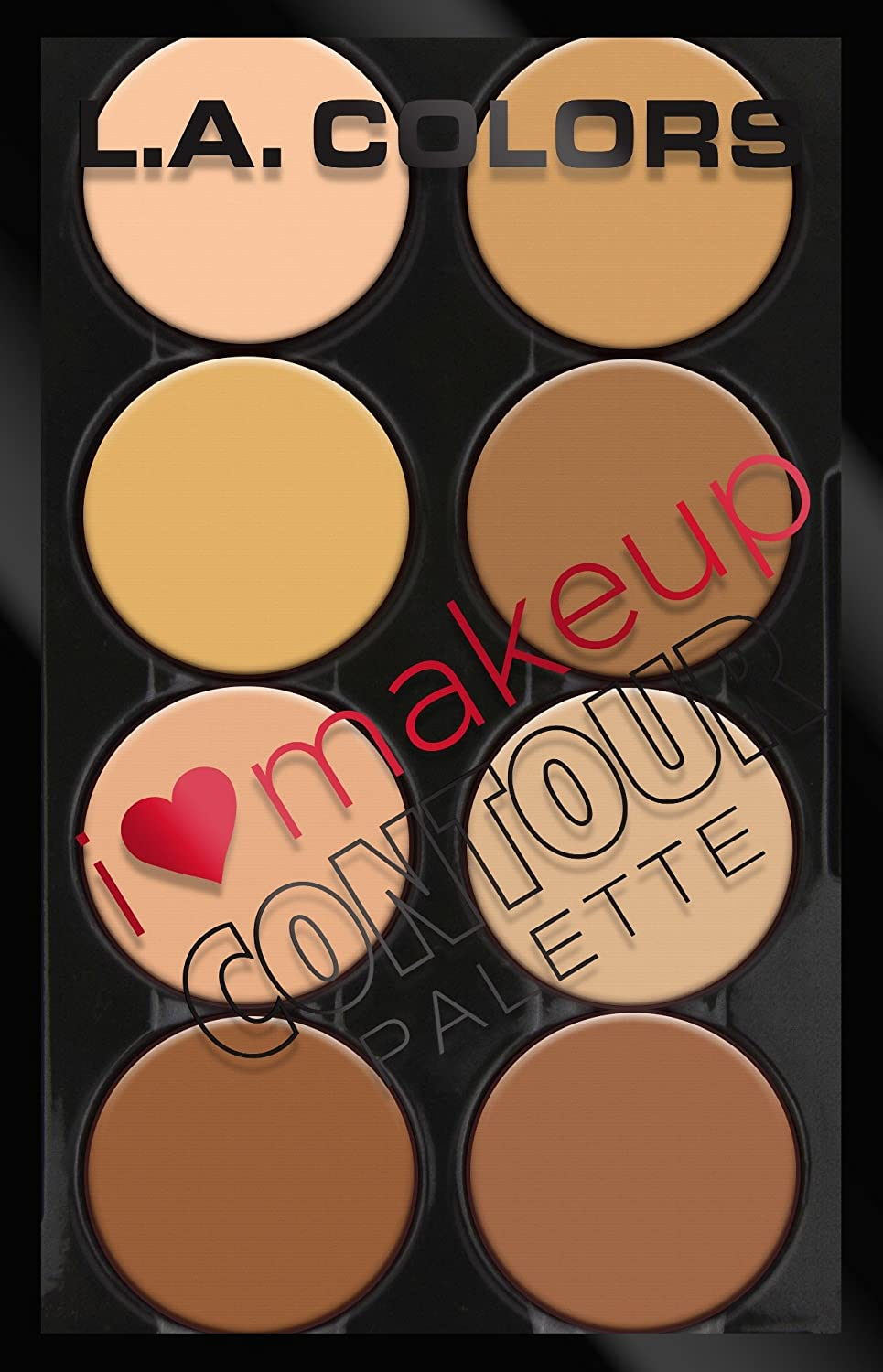 L.A. Colors I Heart Makeup Contour Palette, Light to Medium, 1.04 Ounce