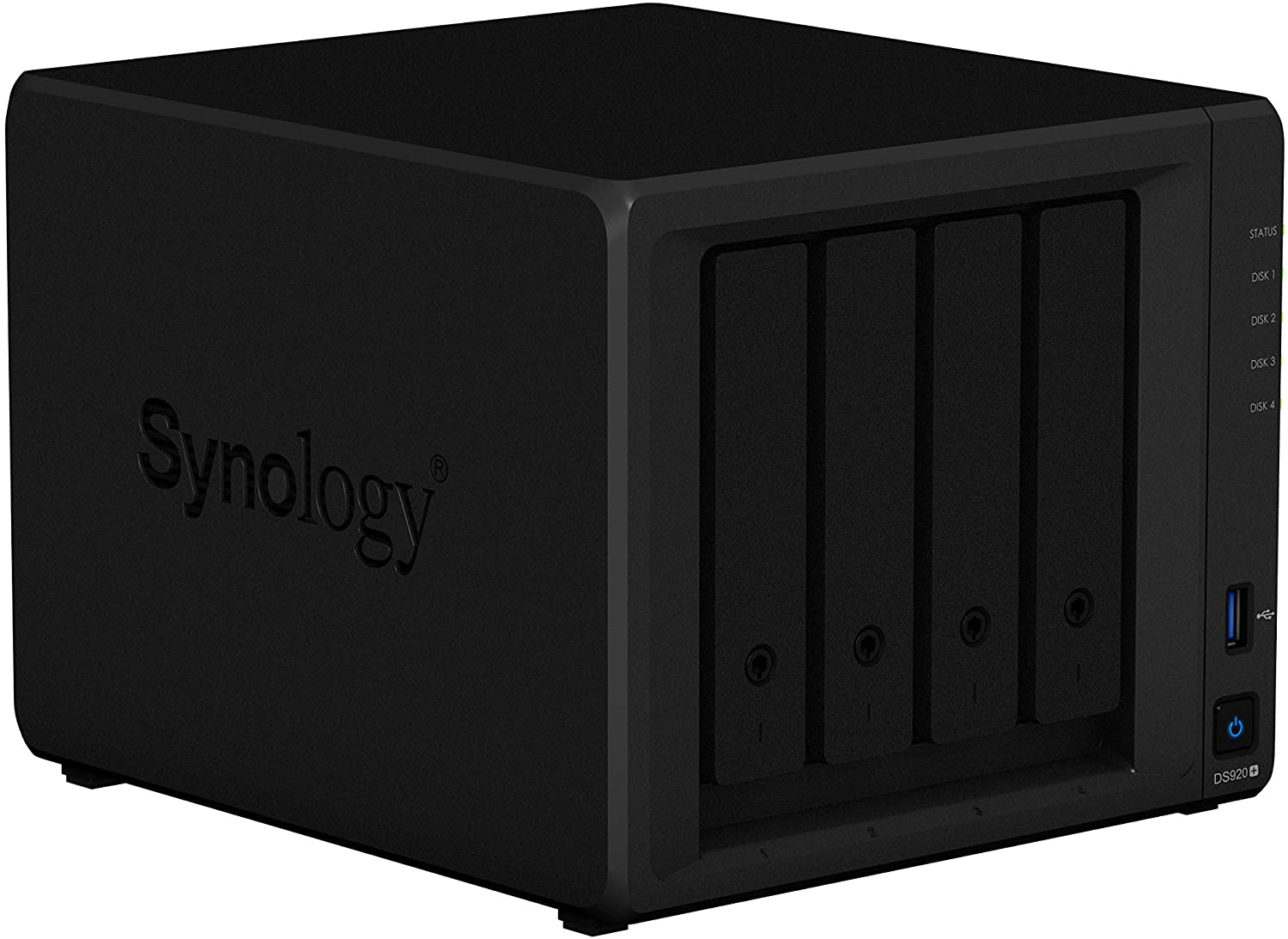56TB 4 Bay Desktop NAS Solution installed with 4 x 14TB Toshiba N300 Drives Synology DS920