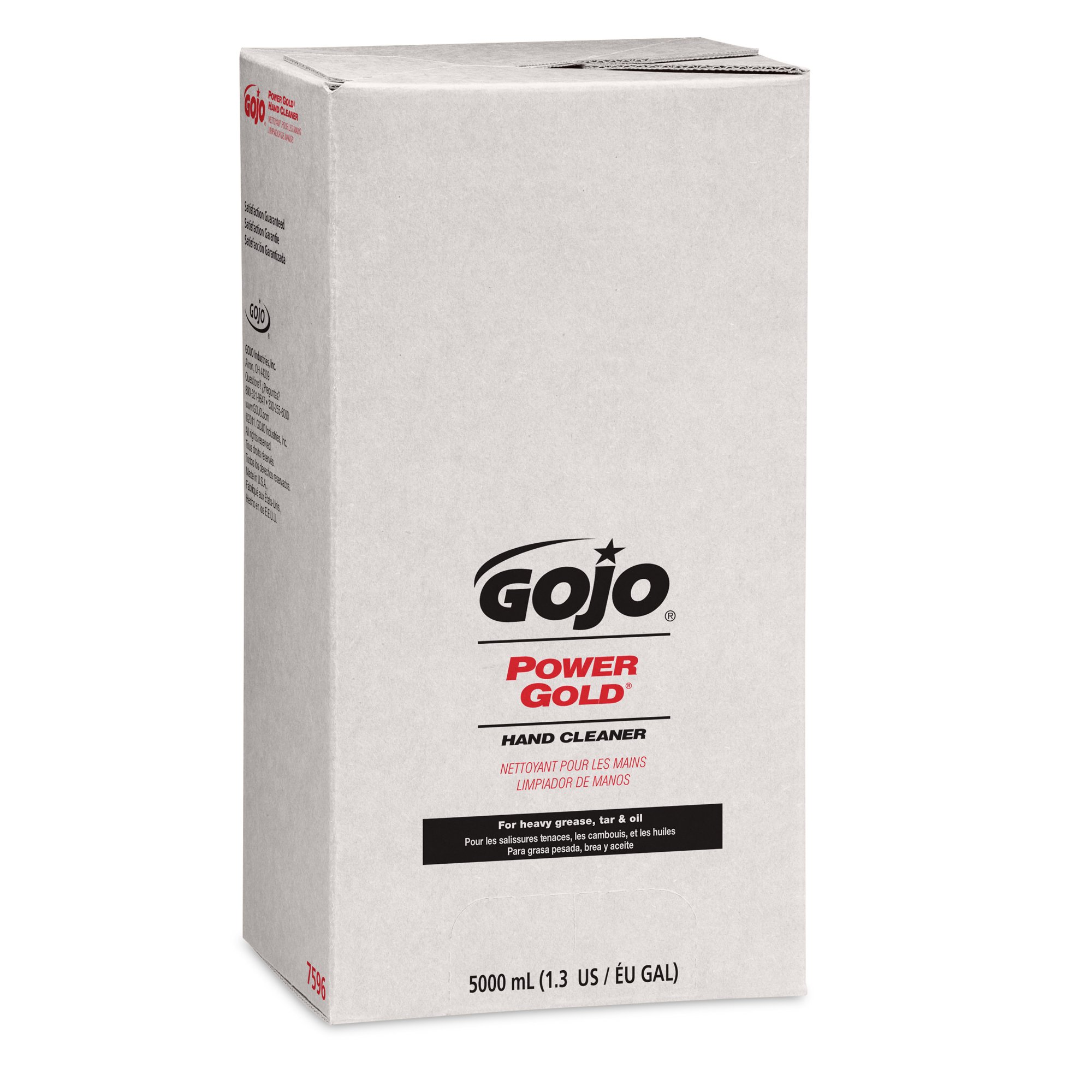 GOJO 7596 POWER GOLD Hand Cleaner, 5000mL, Citrus Scent, Green, Compatible with Dispenser #7500-01 (Case of 2)