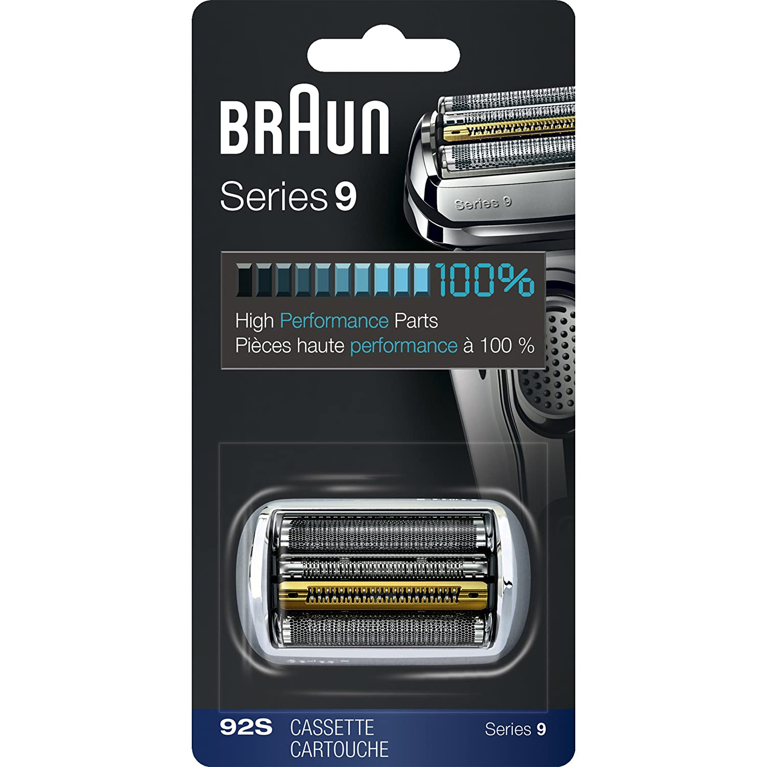 2bb37eb257fbc4 Amazon.com: Braun Series 9 92S Foil & Cutter Replacement Head, Compatible  with Models 9090cc, 9093s, 9290cc, 9293s, 9295cc: Beauty