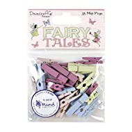 Dovecraft Premium Fairy Tales Mini Pegs, Multicolour, 1