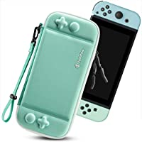 tomtoc Carry Case for Nintendo Switch, Ultra Slim Hard Shell with 10 Game Cartridges, Protective Carrying Case for…