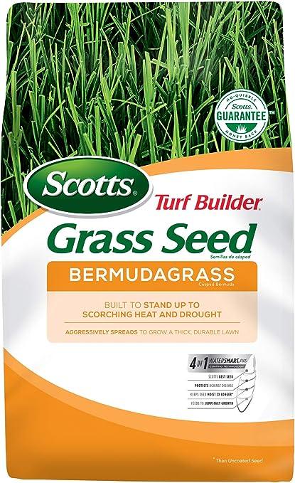 Amazon Com Scotts Turf Builder Grass Seed Bermudagrass 5 Lb Grass Plants Garden Outdoor