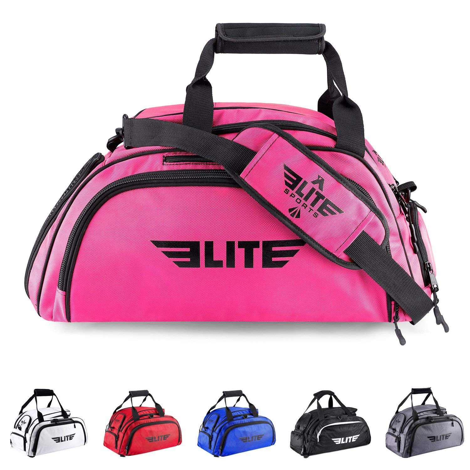 Elite Sports Warrior Boxing MMA BJJ Gear Gym Duffel Backpack Bag with Shoe Compartment
