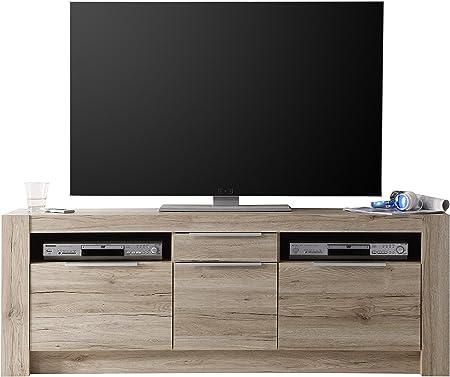 Furnline Mueble para Sala Cougar San Remo. Mueble para TV, Roble Claro: Amazon.es: Hogar