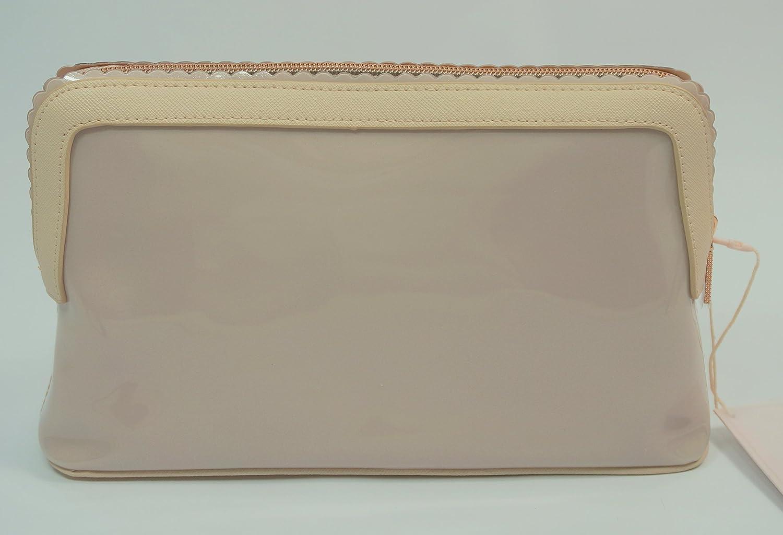 623ec9bbd7ce8e Ted Baker Ardith Scallop Edge Large Wash Bag Straw Pink  Amazon.co.uk   Luggage