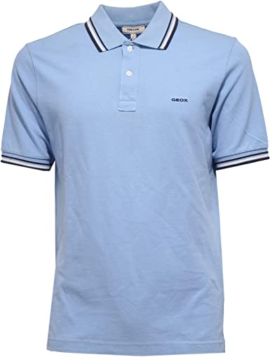 GEOX 8181K Polo uomo Respira Blue Garment dyed Polo t-Shirt Man