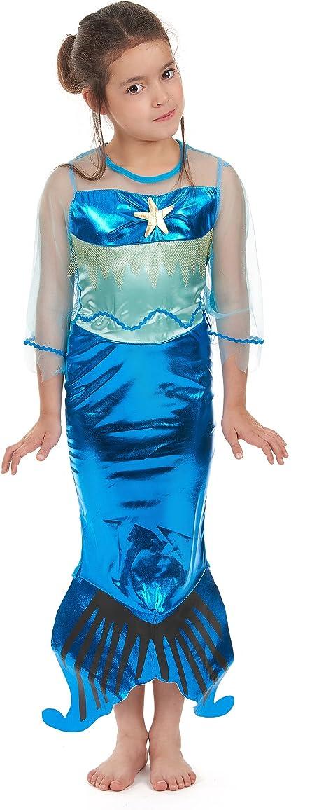 Disfraz sirena niña 4-6 años (104/116): Amazon.es: Juguetes y juegos