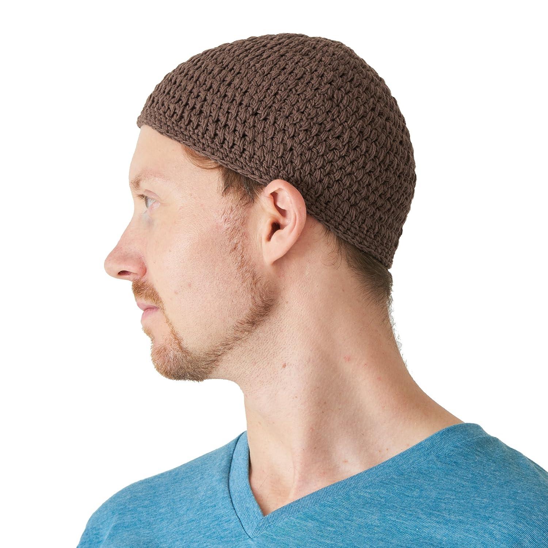 Kufi Cranio Cappellino Cotone Preghiera Cappello Uncinetto Maglione Morbido Pelle Cura Casualbox