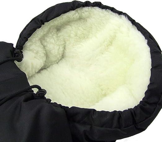 Los beb/és-Dreams Winterfu/ßsack MUMIE 90 cm o de 110 cm 11 coloures para cochecito de lana de cordero bolsa de lana de invierno saco de silla beige