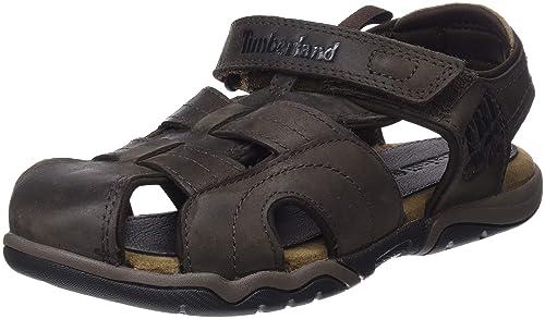 660f92e796a43e Timberland Unisex Kids  Oak Bluffs Leather 2strap Casual Sandal ...