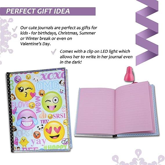 Amazon.com: SMITCO Diario para niñas – bonito Emoji Secret ...