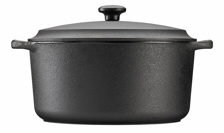 Cast-Iron Casserole Pot Round Cast-Iron Lid - 7 Ltr Skeppshult