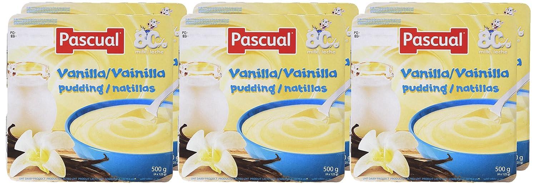 Pascual Natillas Vainilla - Paquete de 4 x 125 gr - Total: 500 gr - , Pack de 6: Amazon.es: Alimentación y bebidas
