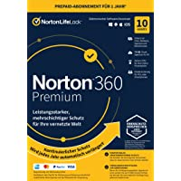 Norton 360 Premium 2021   10 Devices   1 Year Subscription with Automatic Extension   Secure VPN and Password Manager…