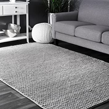 Amazon Com Nuloom Cb01d Handwoven Chunky Cable Wool Rug 6 X 9