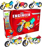 SARTHAM Kids Metal Construction Based Educational Toy/ Dhoom Bike, Age 6+ (Multicolour)