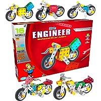 SARTHAM Kids Metal Construction Based Educational Toy/ Dhoom Bike, Age 6+ (Multicolour)