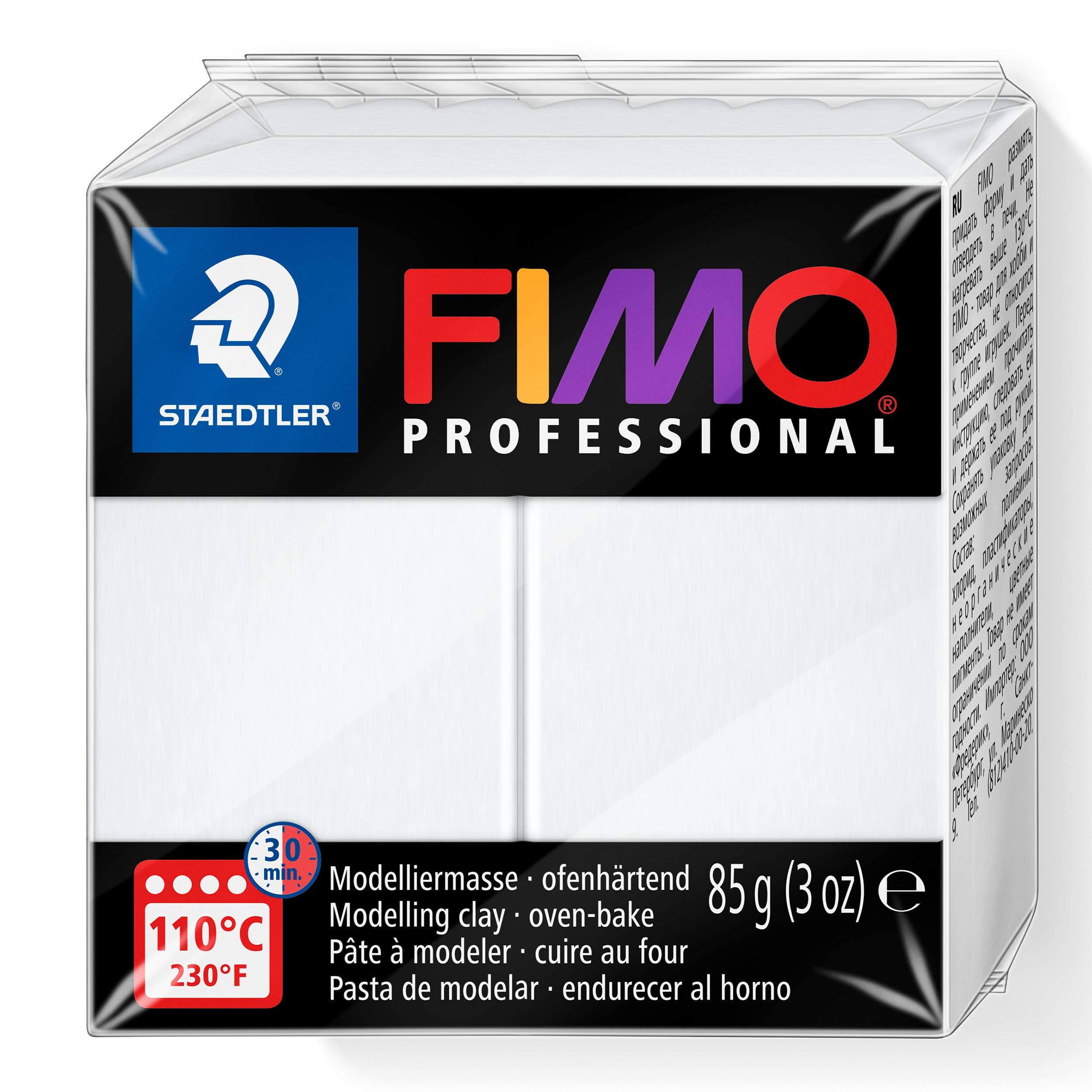 Staedtler Fimo Professional Individual Standard Blocks 85g, White, 85 g