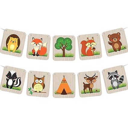 Amazon.com: Woodland Creatures - Pancarta para camping ...