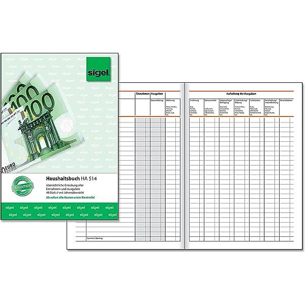 Cherry Kassenbuch 80/g// qm f/ür Kassenbestand A5,/100/Seiten