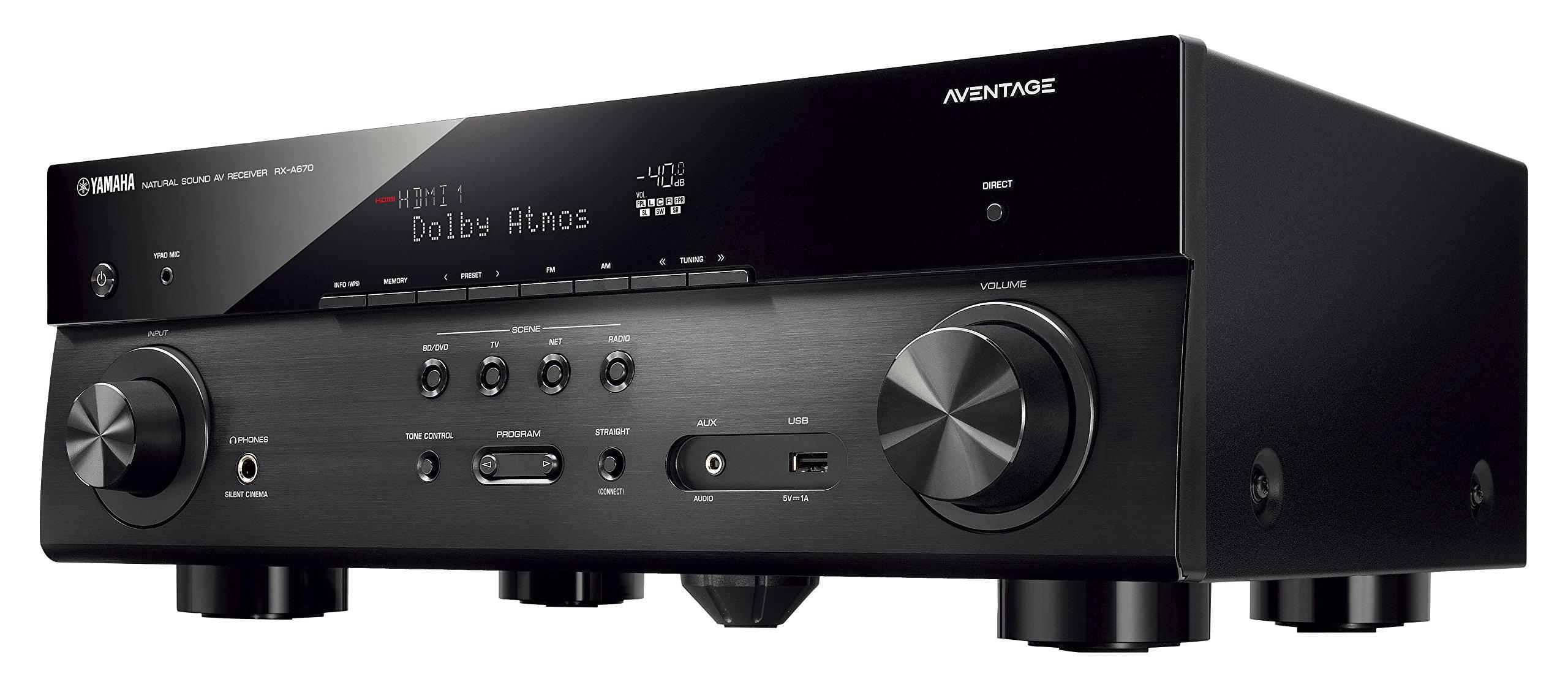 Yamaha AVENTAGE Audio & Video Component Receiver,Black (RX-A670BL)