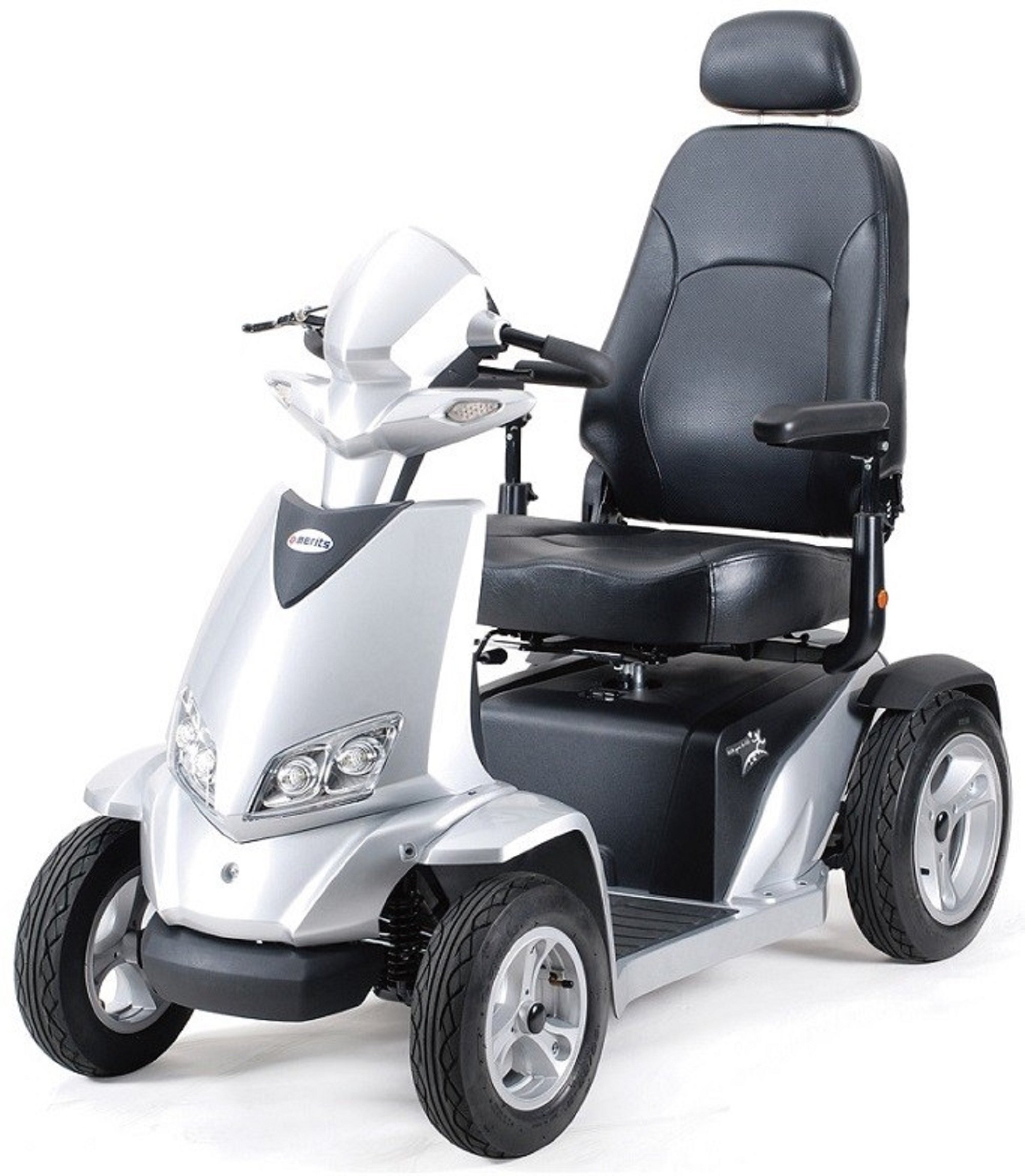 Merits Health Products - Silverado Extreme - 4-Wheel Full Suspension Electric Scooter - 20''W x 18''D - Silver by Silverado (Image #1)