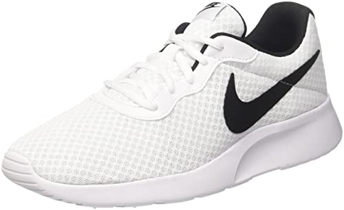 Nike Men s s Tanjun Low-Top Sneakers White Black 001 71f890464e6