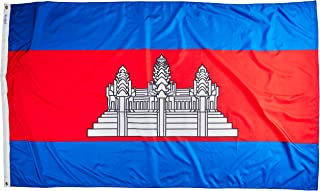 product image for Annin Flagmakers Model 191201 Cambodia Flag Nylon SolarGuard NYL-Glo, 5x8 ft, 100% Made in USA to Official United Nations Design Specifications