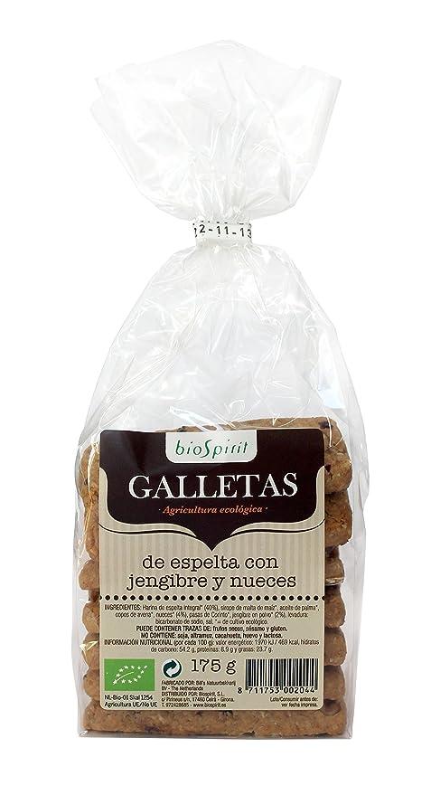 Biospirit Galletas de Espelta con Jengibre y Nueces de ...