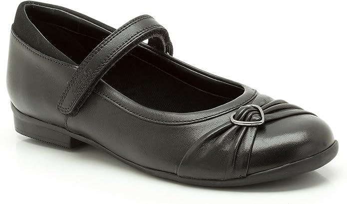 Girls Clarks Black Leather Dolly Shoes UK Sizes 8-12.5 G Fitting Tasha Bay