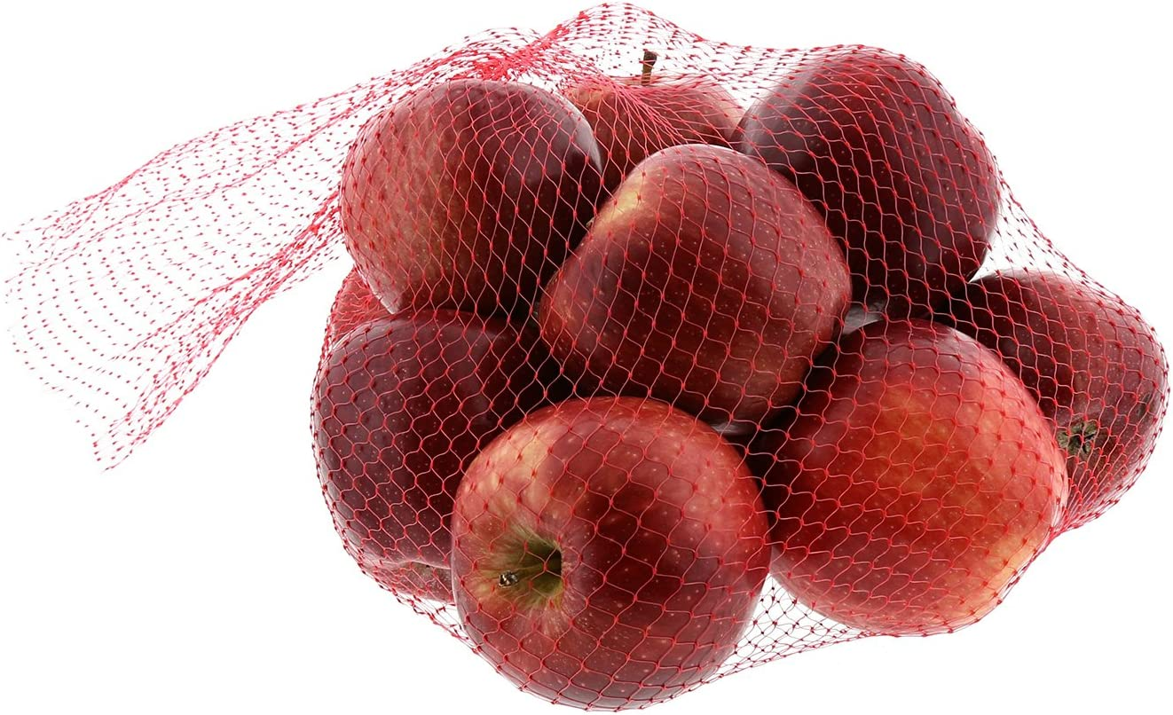 Royal Red Plastic Mesh Produce and Seafood Bag, 24 Inch, Package of 1000
