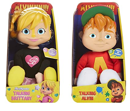 Amazon.com: Set of 2 Dolls Alvin and the Chipmunks Talking Brittany ...