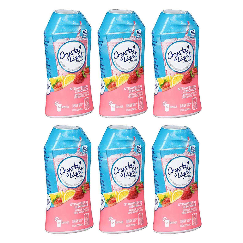 Crystal Light Liquid Strawberry Lemonade Drink Mix, 1.62 Fl Oz Bottle