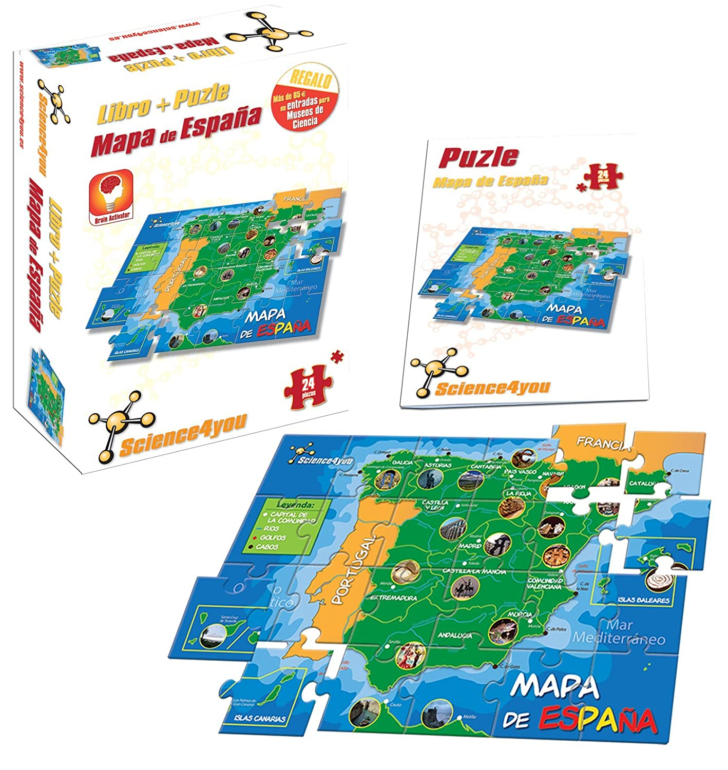 Science4you - Libro + Puzzle Mapa de España A4 - Juguete ...