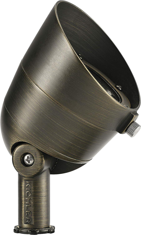 Kichler 16150CBR27 Landscape Accent, 3-Light LED 7.5 Total Watts, Centennial Brass