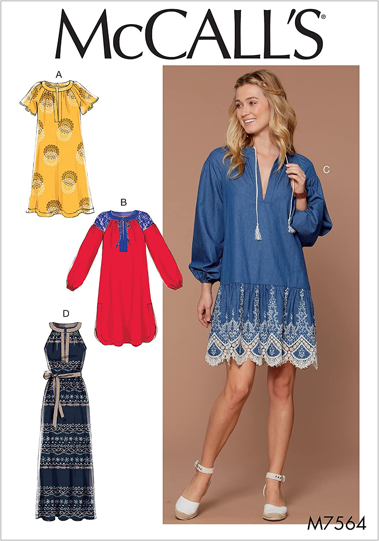 gro/ße/ /2/x Gro/ße McCall s Patterns Schnittmuster Kleider und G/ürtel mehrfarbige