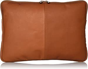 Piel Leather 13 Inch Zip Laptop Sleeve, Saddle, One Size
