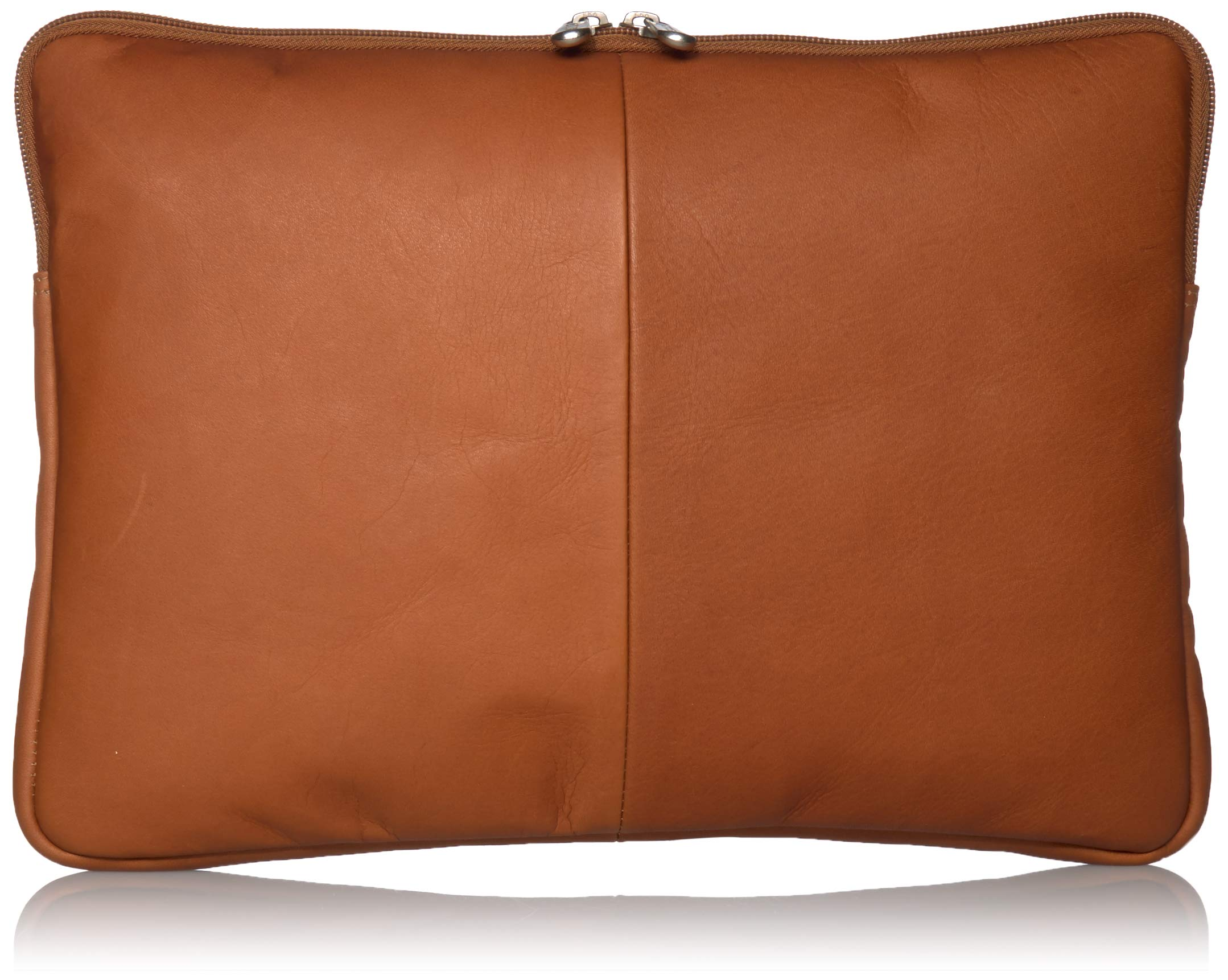 Piel Leather 13 Inch Zip Laptop Sleeve, Saddle, One Size
