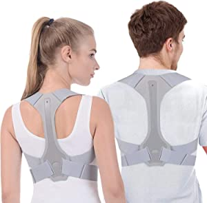 Posture Corrector for Men and Women - Adjustable Upper Posture Brace for Support,Providing Shoulder-Neck-Back Relief Pain (M)