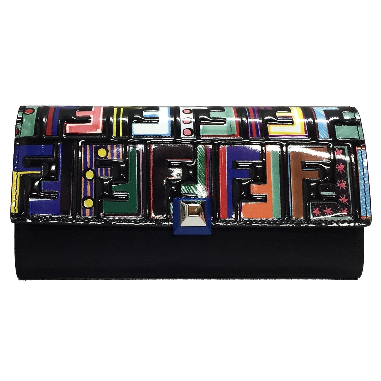 [フェンディ]FENDI 財布 8M0251 A18I F0X93 レディース 二つ折り長財布 FUN FAIR ズッカ ファンフェア ブラック マルチカラー [並行輸入品] B07B8CNNH7