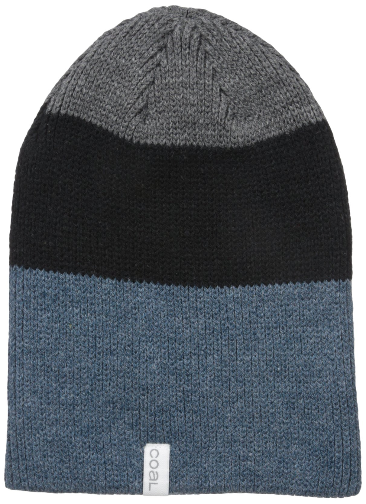 Coal Men's The Frena Solid Fine Knit Beanie Hat, Heather Slate, One Size