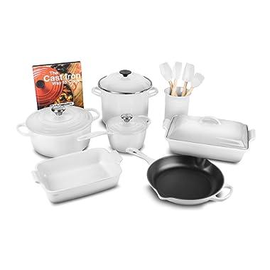 Le Creuset 16-piece Cookware Set (White)