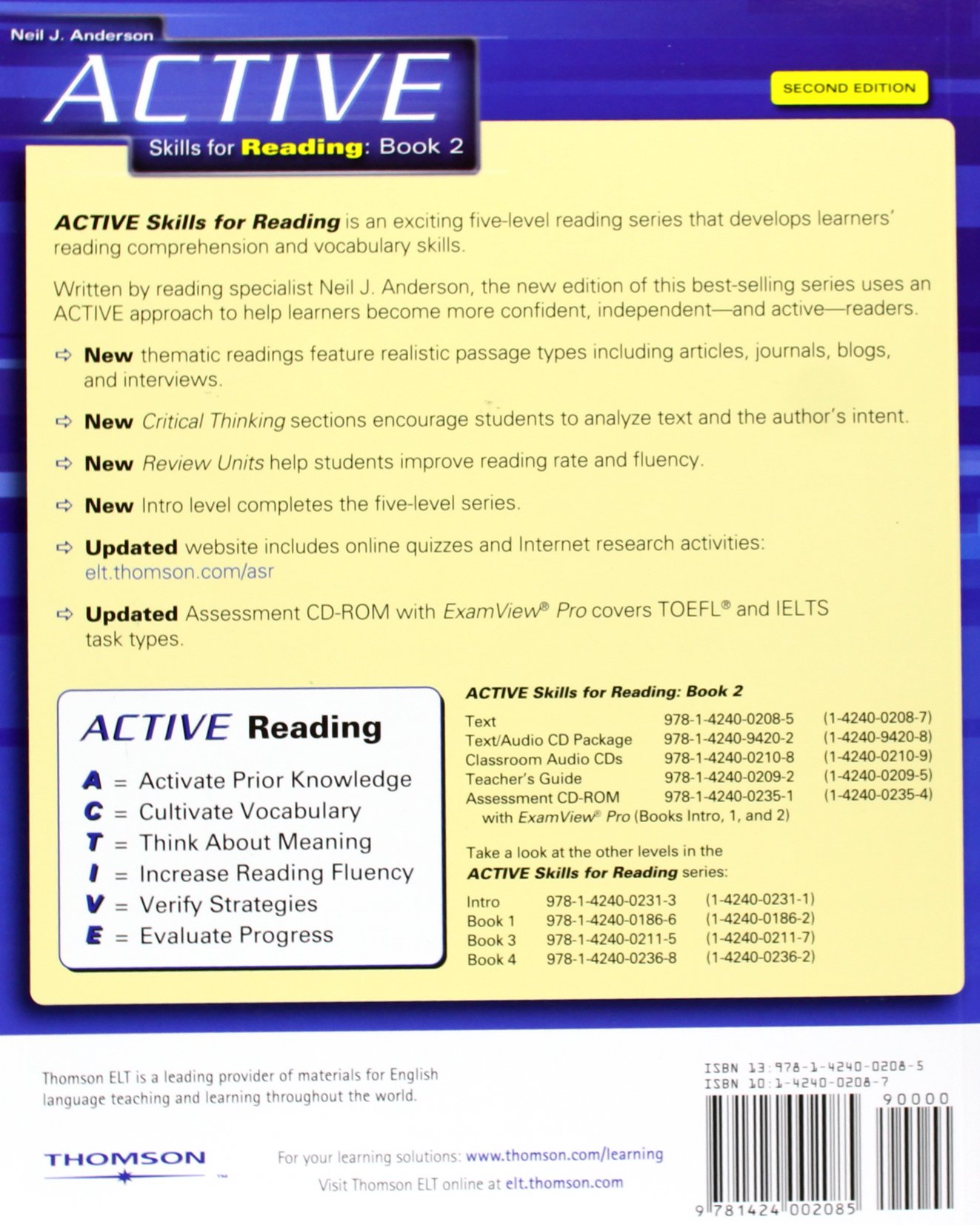 active skills for reading 2 amazon in neil j anderson books rh amazon in
