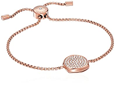 b05d390205906 Amazon.com  Michael Kors Beyond Brilliant Rose Gold-Tone Bangle Bracelet   Jewelry