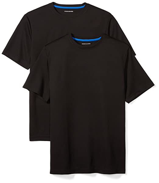 359c0924 Amazon.com: Amazon Essentials Men's 2-Pack Performance Short-Sleeve T-Shirts:  Clothing